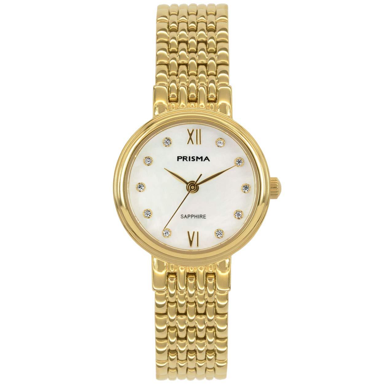 Mit Prisma Damen Pearl P Edelstahl Uhr Gold Perlmutt Datum Quarz Und 8nwvmy0ON