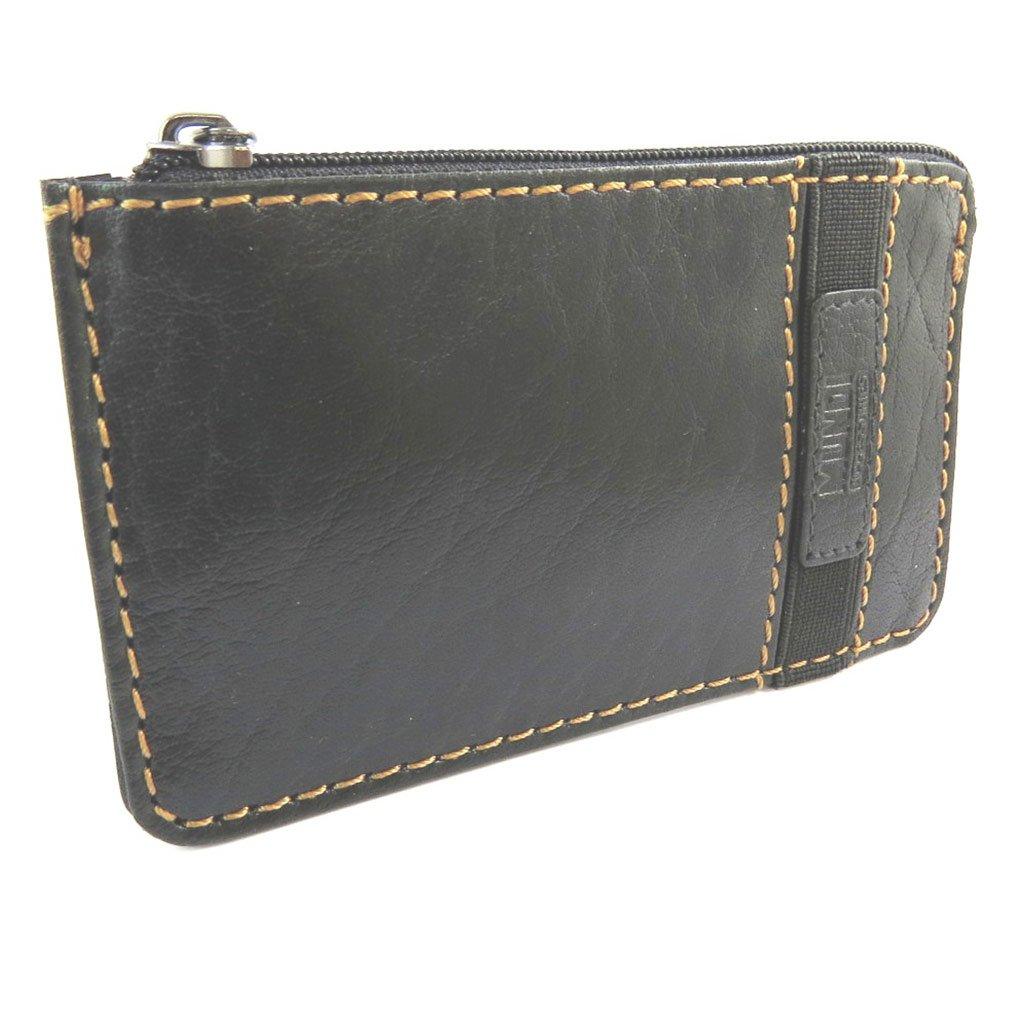 Monederos de cuero Mundide la vendimia negro - 12x7.2 cm ...
