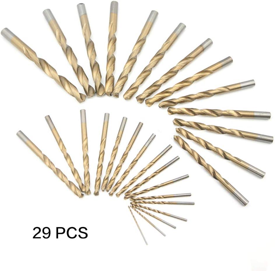 NORTOOLS 13 PCS HSS TiN Twist Drill Bits 1//4 Inch Quick Change Hex Driver Set for Wood Plastic Aluminum Alloy 1//16-1//4 Inch