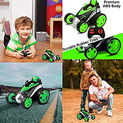 LGUIY RC Cars, Kids Toys Remote Control Car Stunt Car Vehicle High Speed 360 Degree Rotation Flip Racing Car Upright Driving Christmas Birthday Gifts Gadgets Toys for Boys Girls (Green): Toys & Games