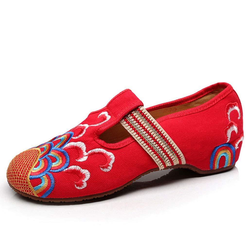 XHX Chaussures Brodées par des B012OBQCEK Femmes, Chaussures (Couleur De Ballet : Brodées Élégantes Chaussures Plates en Tissu De Loisirs Rouges (Couleur : Red, Taille : 35) Red c869b93 - shopssong.space