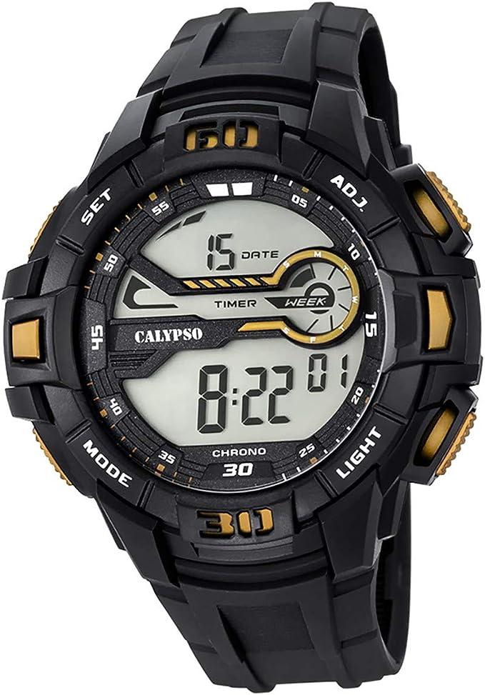 Calypso K5695/4 - Reloj digital para hombre (plástico PUR), color negro
