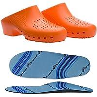 Zuecos sanitarios calzado Classic S con agujeros con plantilla profesional CE