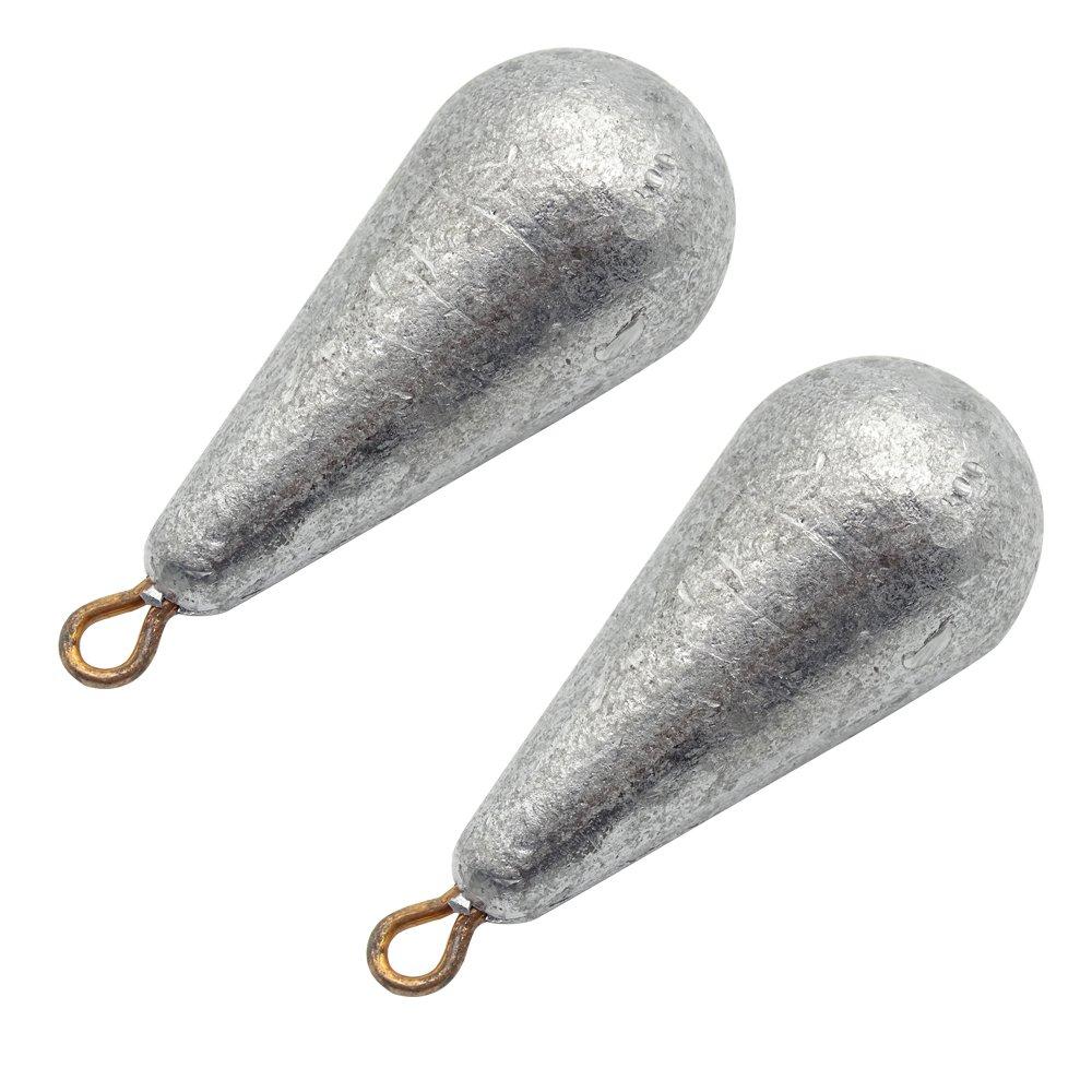 Noyokere 5 unids Pesas de Plomo Pesas Fregaderos Forma de Gota de Agua Bastidor de Aparejos de Pesca Accesorio