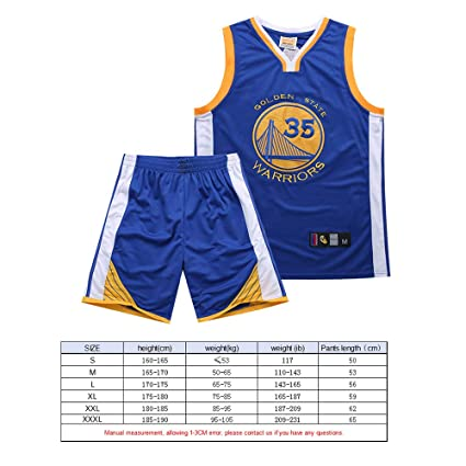 BUY-TO Camiseta de Baloncesto Guerrero 35 Kit de Camisa Kevin Durant Bordado: Amazon.es: Deportes y aire libre