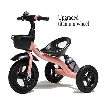 GSDZSY - Triciclo Bicicleta De 3 Ruedas para Niños, Cuerpo De Acero Al Carbono, Rueda De EVA, Asiento Y Manubrios Ajustables, 2-6 Años,G: Amazon.es: Jardín