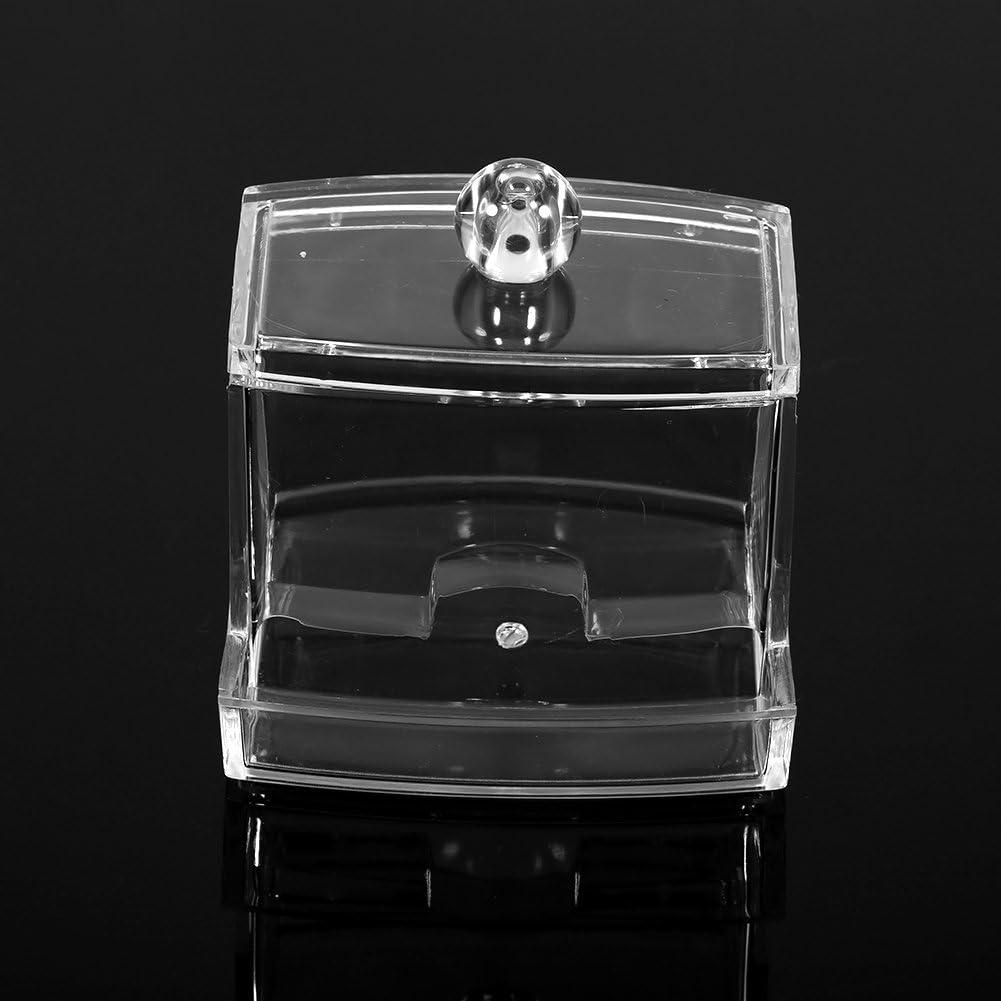 Coton-tige conteneur organisateur bo/îtes de coton-tige clair organisateur de stockage de maquillage avec couvercle pratique cosm/étique titulaire transparent titulaire cas