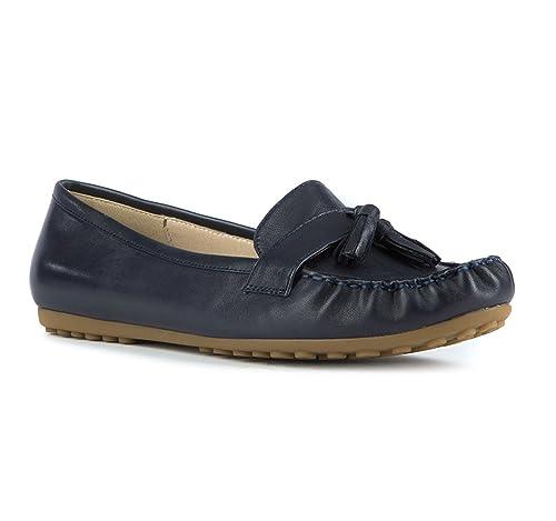 Wittchen - Mocasines de Piel para Mujer Azul Azul Marino, Color Azul, Talla 41: Amazon.es: Zapatos y complementos
