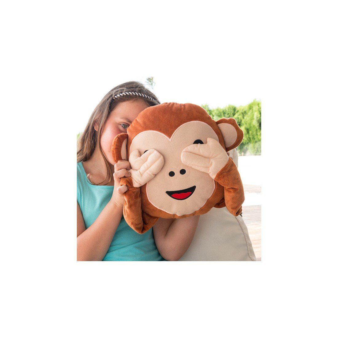Cojín Emoticono Monkey