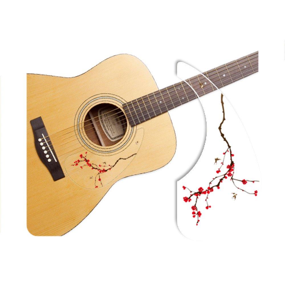 Healingshield Premium Acoustic Guitar Pickguard Basic Type Cherry Blossom