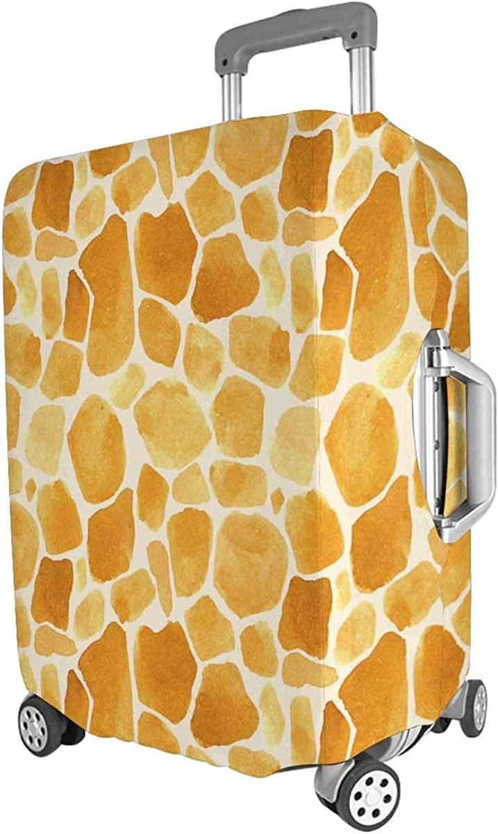 INTERESTPRINT Travel Luggage Cover Suitcase Protector Fit 18-28 Inch Luggage Watercolor Wild Animal Pattern