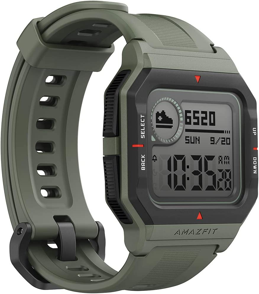 Amazfit Neo Smart Watch Reloj Inteligente 28 Días Batería 5 ATM Sensor Seguimiento Biológico Frecuencia Cardíaca iOS & Android (Verde)