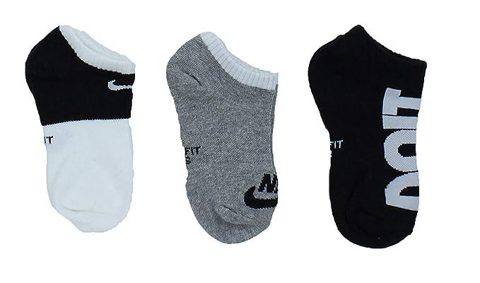 c1846bb6ca Amazon.com: Nike Kids' 3 Pack Graphic Lightweight No-Show Socks: Clothing