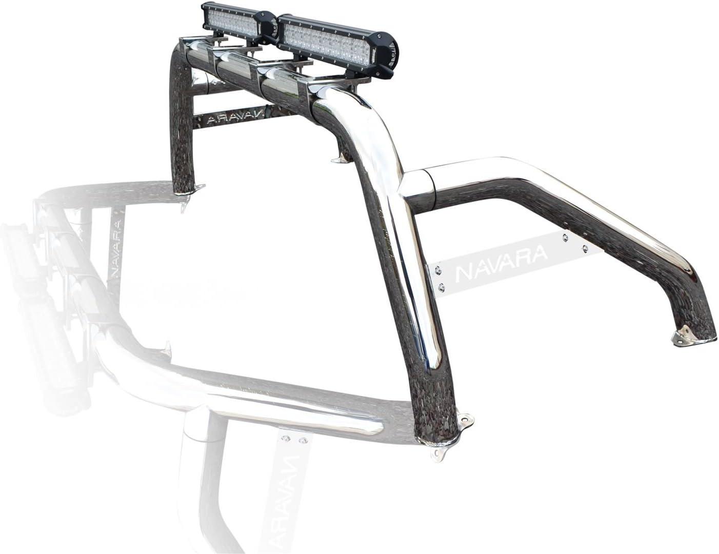 Fitting Kit Bragan BRA4812519 4x4 Chrome Stainless Steel Sport Rollbar Roll Bar LED Spot Bar