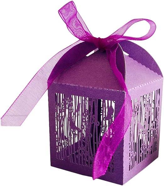 NBEADS Caja de Dulces, Caja de Papel Púrpura de 100 Pieza con ...
