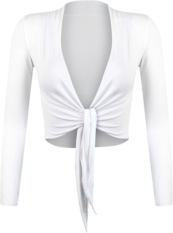 Glamexx24 Elegante Bolero da Donna Giacchetta con Maniche Lunghe