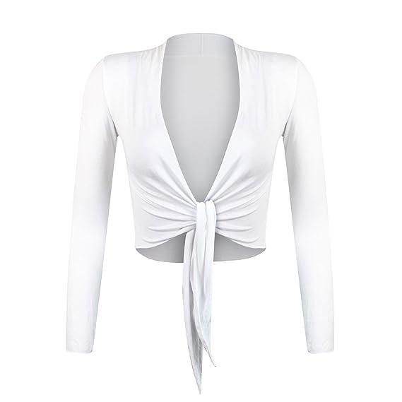 Glamexx24 Elegante Bolero da Donna Giacchetta con Maniche Lunghe ... c17262c43d07