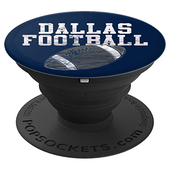 90bdabe4705 Amazon.com: Dallas Football on Navy - PopSockets Grip and Stand for ...