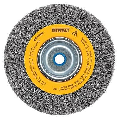 Black and Decker - Dewalt DW4906 8in. 5/8in. Arbor Medium Face .014in. Wire Crimped Bench Wire Wheel