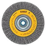 DEWALT DW4906 8-Inch Crimped Bench Wire Wheel, 5/8 Arbor, Medium Face, .014-Inch Wire