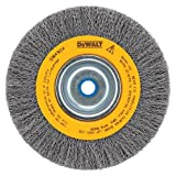 DEWALT DW4906 8-Inch Crimped Bench Wire Wheel, 5/8 Arbor, Medium Face.014-Inch Wire
