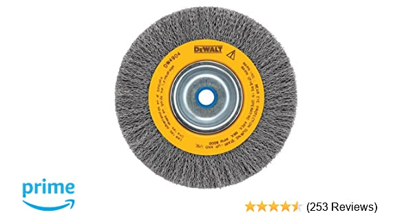 5//8 Arbor Medium Face.014-Inch Wire DEWALT DW4906 8-Inch Crimped Bench Wire Wheel