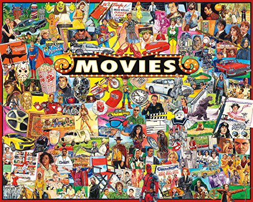 White Mountain Puzzles The Movies - 1000 Piece Jigsaw Puzzle (Popular Tv Shows In The 80s And 90s)