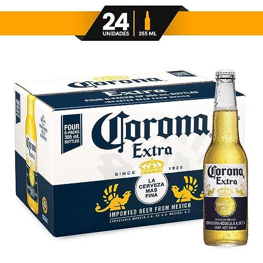 52e3f591767 Cerveza Clara Corona Extra 24 botellas de 355ml c/u