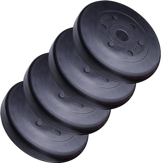 ScSPORTS HS049 - Pesa en forma de disco, 4 unidades de 5 kg: Amazon.es: Deportes y aire libre