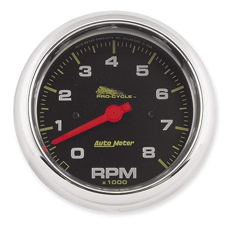 amazon com auto meter pro cycle street tachometer 19300 automotive