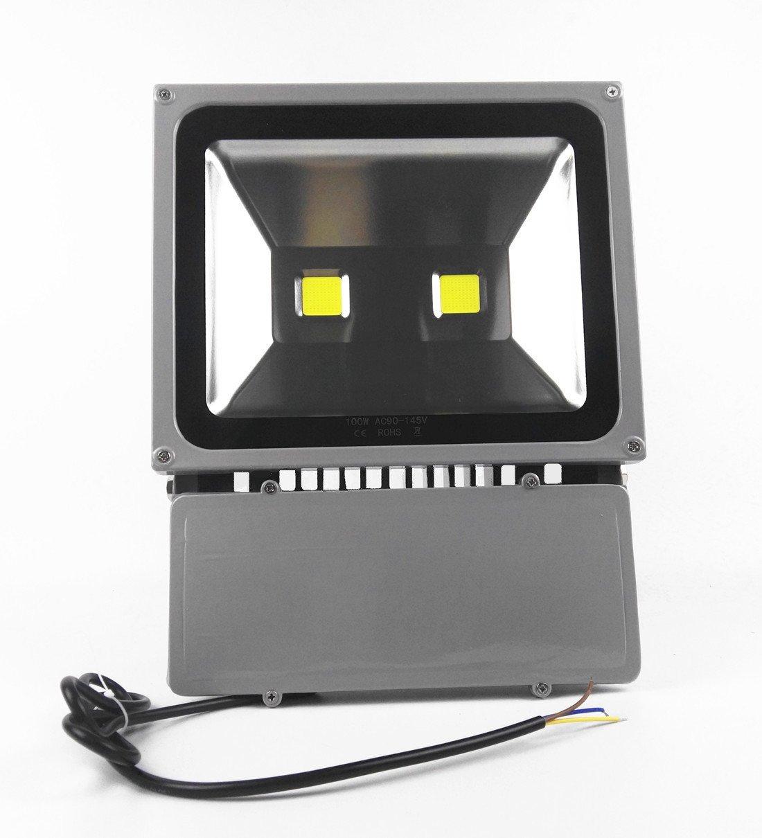 LED Flood light Waterproof Outdoor Lighting - AI YONG LED street lamp Lighting(2017 new design)Daylight White 6000k 100W LED Lighting 110V 100% Aluminum finish life>50,000h,2-year warranty