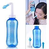 HailiCare 鼻洗浄器 鼻うがい ノーズシャワー 成人 児童 手動式 アレルギー性鼻炎 風邪 花粉症 鼻炎などに適用 500ML ノズル2個