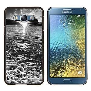 For Samsung Galaxy E7 E700 Case , Cascada Topacio Verde- Diseño Patrón Teléfono Caso Cubierta Case Bumper Duro Protección Case Cover Funda