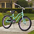 Huffy Fairmont 20 inch Girls Cruiser Bike, Metallic