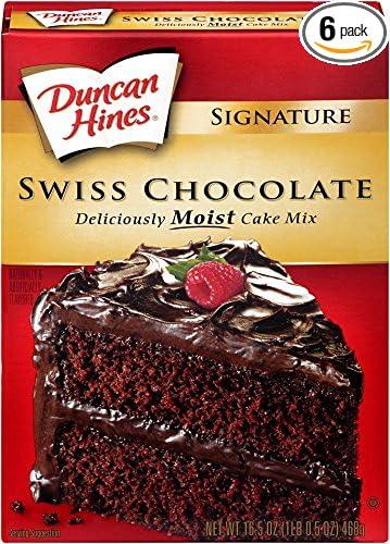 Amazon Com Duncan Hines Signature Cake Mix Swiss Chocolate 16 5