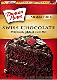 Duncan Hines Signature Cake Mix, Swiss Chocolate, 16.5 Ounce (Pack of 6)