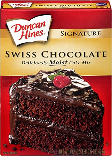 Cake Mix Hines Duncan Chocolate - Duncan Hines Signature Cake Mix, Swiss Chocolate, 16.5 Ounce (Pack of 6)