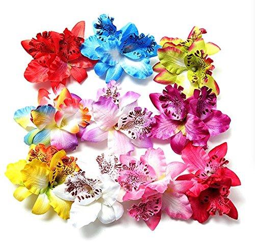 MorningRising 20 Pcs Multicolor Women Girls Orchid Flower Bohemian Leopard Hair Clip Wedding Party Beach Bridal Hairclip Hair Pins Hair Barrette Accessories