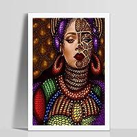 Pintura de Pared con diseño de Mujer con Diamantes, decoración Moderna para el hogar, Pintura para Sala de Estar