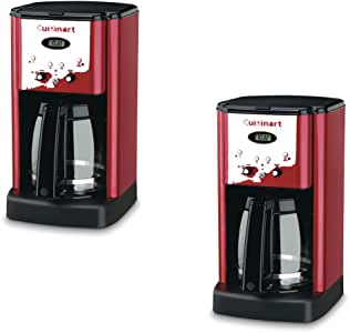Amazon.com: Cuisinart Red 12-Cup Programmable Coffee ...