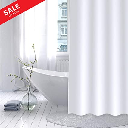 CentralPark Microfiber Shower Curtain 70quot X 72quot Mildew Resistant Water Repellent Machine Washable