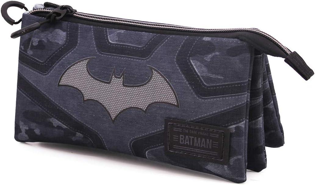 Karactermania Batman Fear - Estuche Portatodo Triple HS, Negro, Un tamaño: Amazon.es: Equipaje