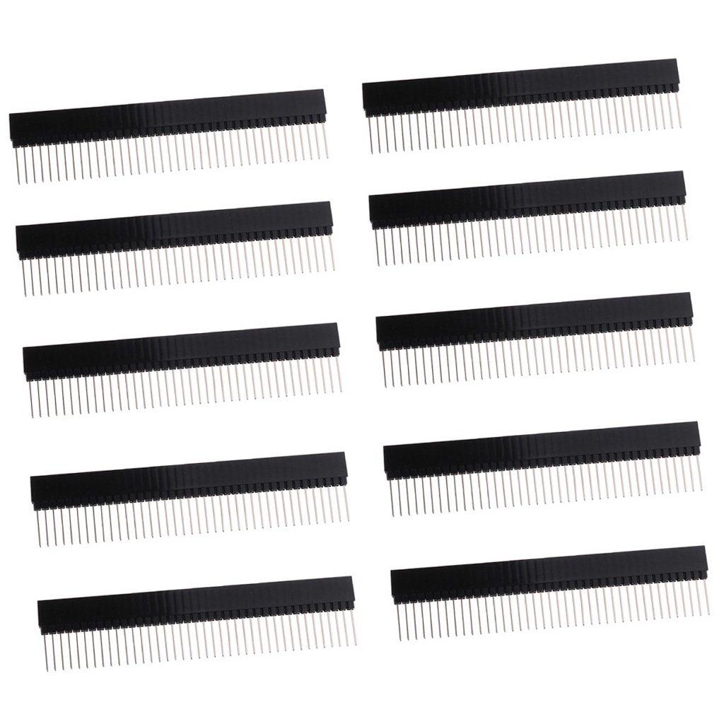 IPOTCH 10 x Stiftleiste Pin Header Anschl/üsse Stehend Leiterplatten Buchsenleiste