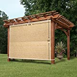 Easy2Hang Side Shade Panel Wall for Pergola, Patio, Window, Instant Canopy or Gazebo, 6x8ft