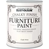 Rust-Oleum AMZ0010 A Classic, Smooth Touch Flat matt Paint Finish, Chalk White, 750ml