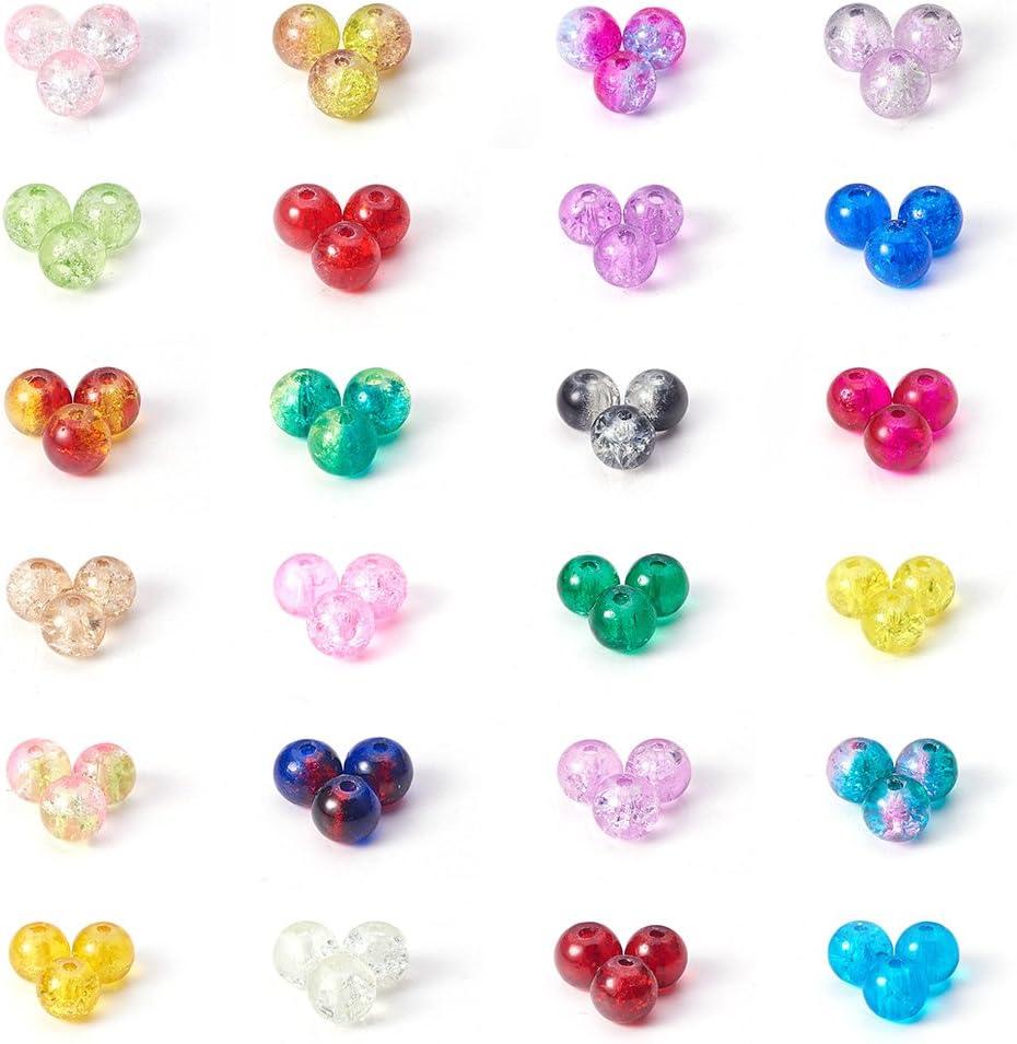 10 x violet en verre craquelé acrylique effet bijoux perles taille 23 mm x 24 mm