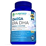 Fish Oil by Purified Nutrition, Triple Strength Formula Packed into One Capsule, 1,000mg Fish Oil, 700mg Omega-3 Fatty Acids, 300mg DHA, and 400mg EPA, 90 Day Supply