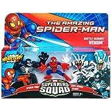 Marvel Super Hero Squad The Amazing Spider-Man Battle Against Venom 3-Pack