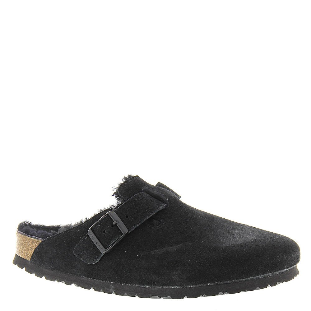 72da8c304 Galleon - Birkenstock Women's Boston Shearling Clog Black Suede/Black Shearling  Size 38 N EU