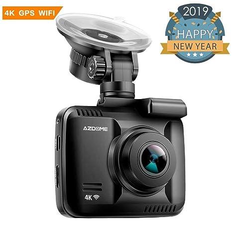 Cámara de Coche 4K 2160P con WIFI y GPS Dashcam Grabadora Ultra HD Dash Cam de